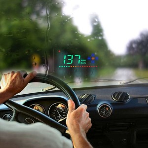 A2 HUD 3,5 inch HD GPS Auto Head Up Display, Snelheids- en snelheidsalarm Alarm, Kompas, Vrij schakelen tussen kilometer en mijl (zwart)
