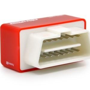 Super Mini EcoOBDII Plug en station Chip Tuning Box voor dieselauto's lagere brandstof en lagere Emission(Red)