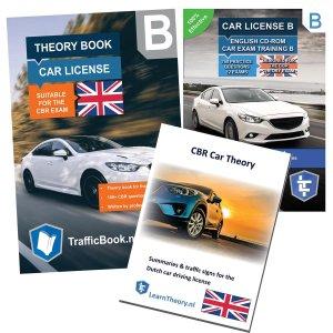 AutoTheorieboek Engels 2021 met de Engelse Auto Theorie Oefen CD en Engelse Auto Theorie Samenvatting - Rijbewijs B in het Engels