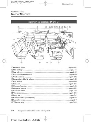 2010 Mazda CX 9 Owners Manual