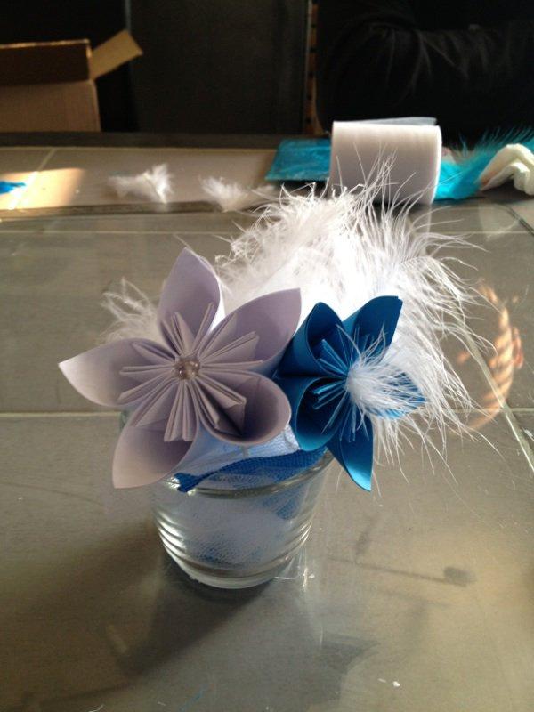 Cration Communion Avec Centre De Table Cration Origami