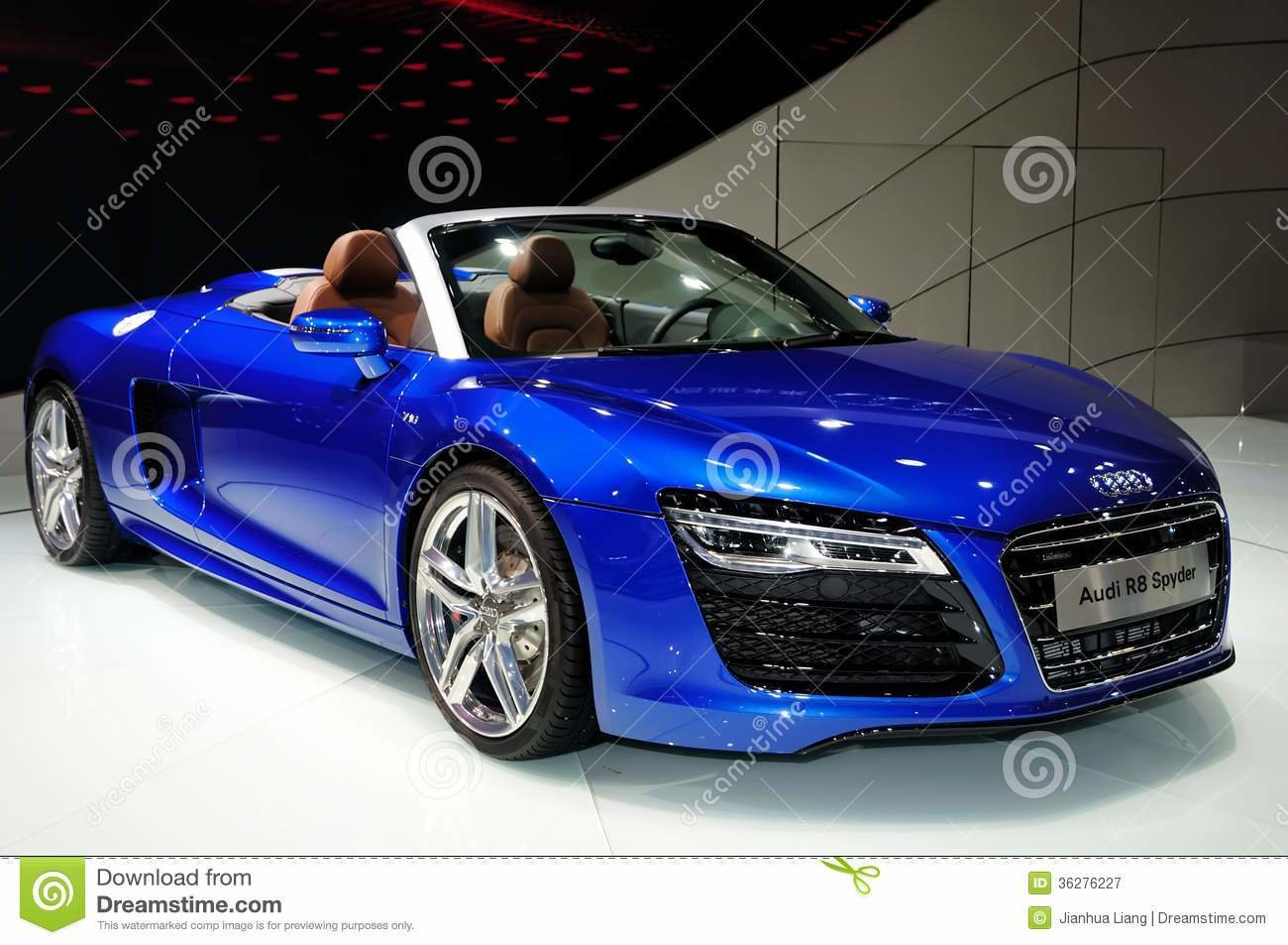 Latest Audi R8 Spyder Convertible Sports Car Editorial Free Download