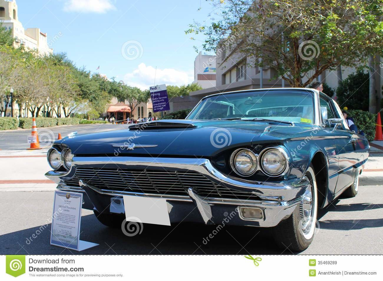 Latest Old Ford Thunderbird Car At The Car Show Editorial Stock Free Download