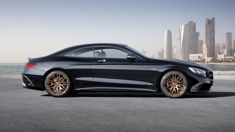 Latest Mercedes Benz S63 Amg Brabus Side View Hd Wallpaper Free Download Original 1024 x 768