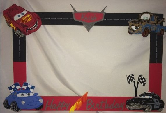 Latest Photo Frame Party Prop Disney Cars To Take By Free Download