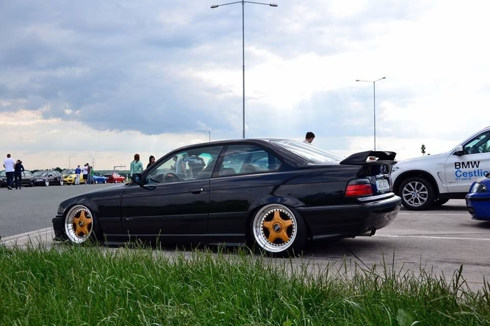 Latest Black Bmw E36 Coupe On Gold Polished Bbs Rf Cult Wheels Free Download