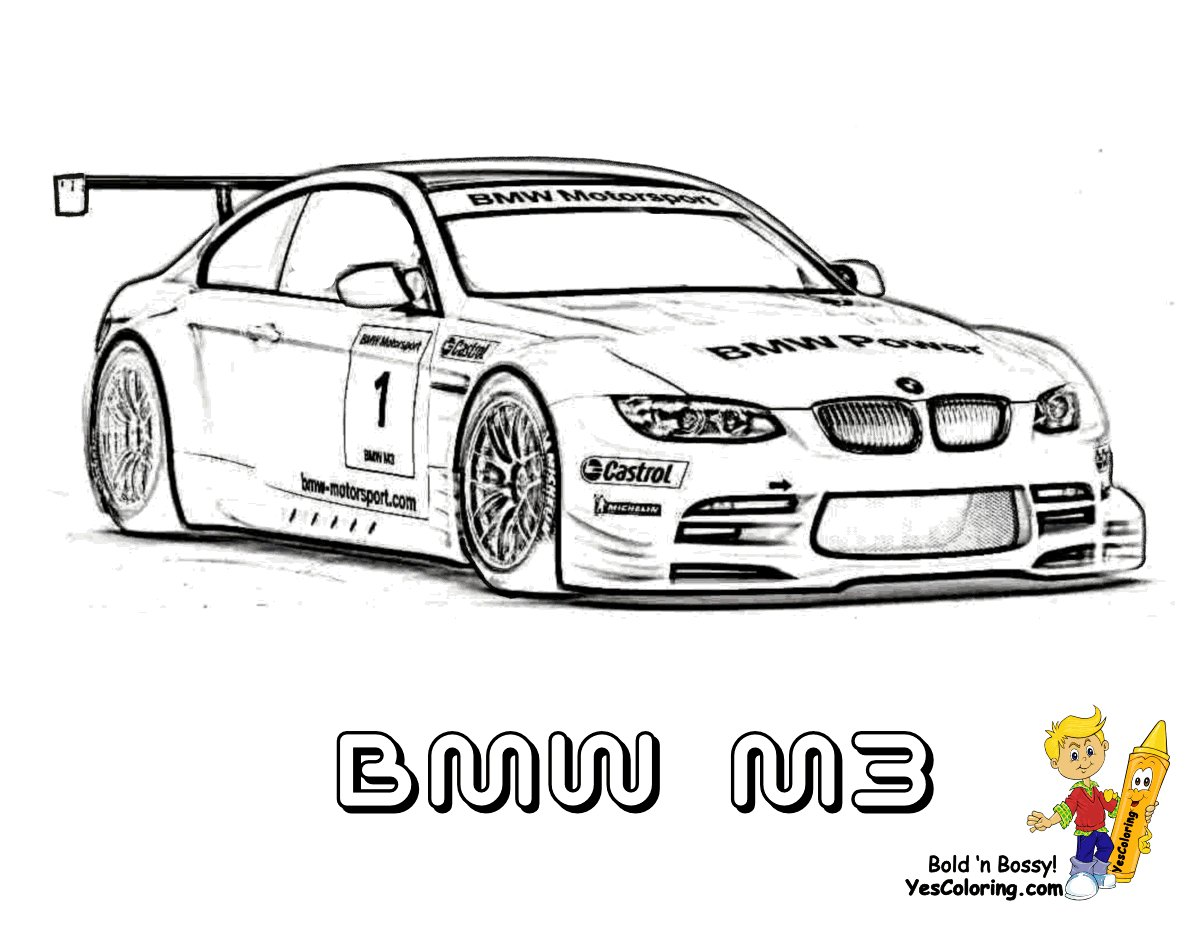 Latest Bmw M3 Fast Car Picture To Print At Yescoloring Com Free Download