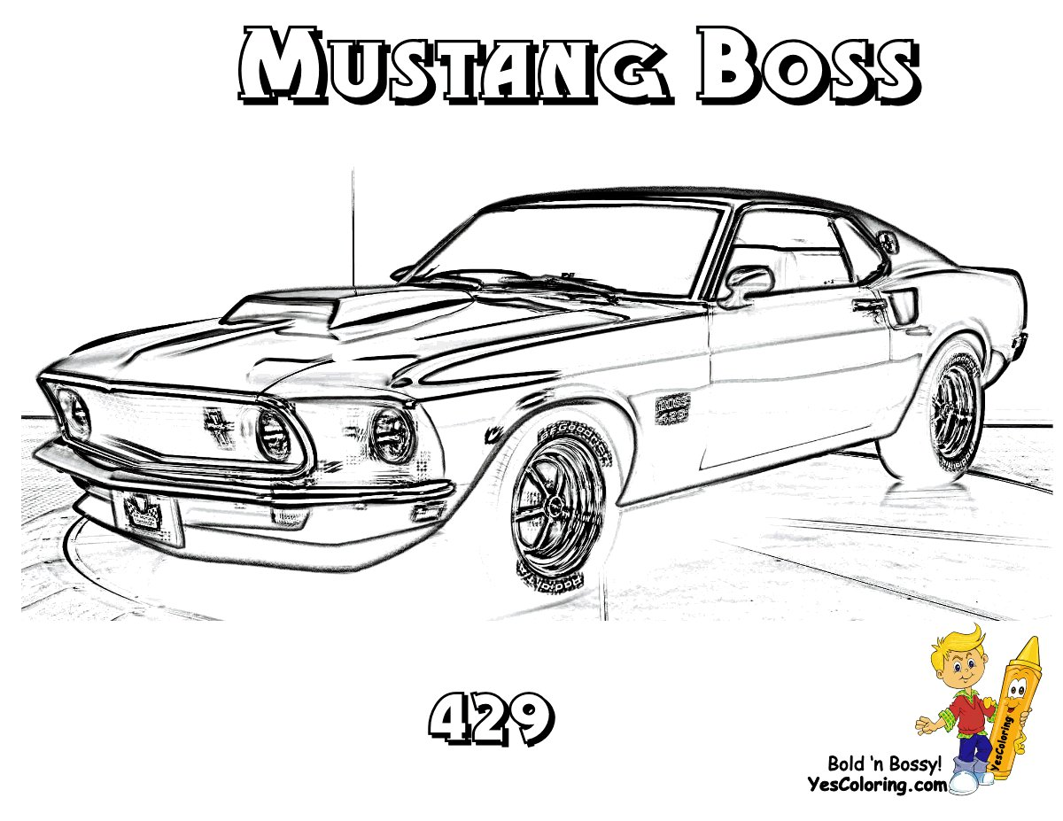 Latest 69 Mustang Boss 429 Muscle Car You Can Print Out This Free Download Original 1024 x 768