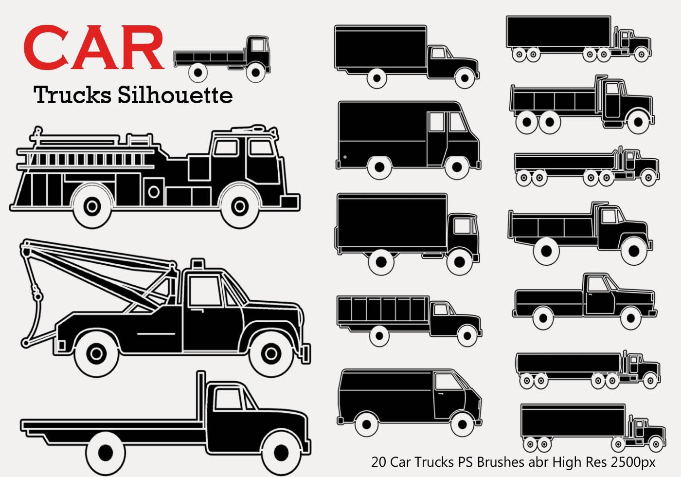 Latest 20 Car Truck Silhouette Ps Brushes Free Photoshop Free Download Original 1024 x 768
