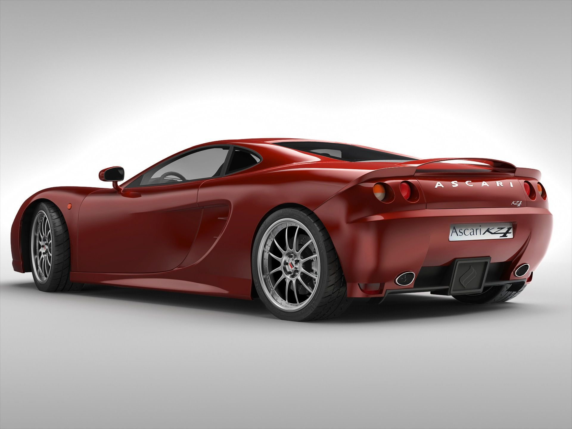 Latest Ascari Kz1 British Sports Car 3D Model Max Obj 3Ds Fbx Free Download