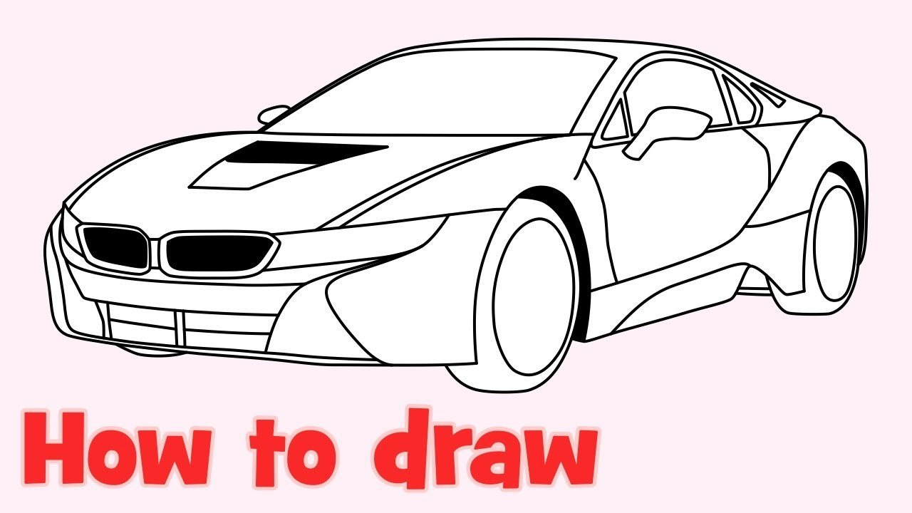 Latest How To Draw A Car Bmw I8 Step By Step Easy Youtube Free Download