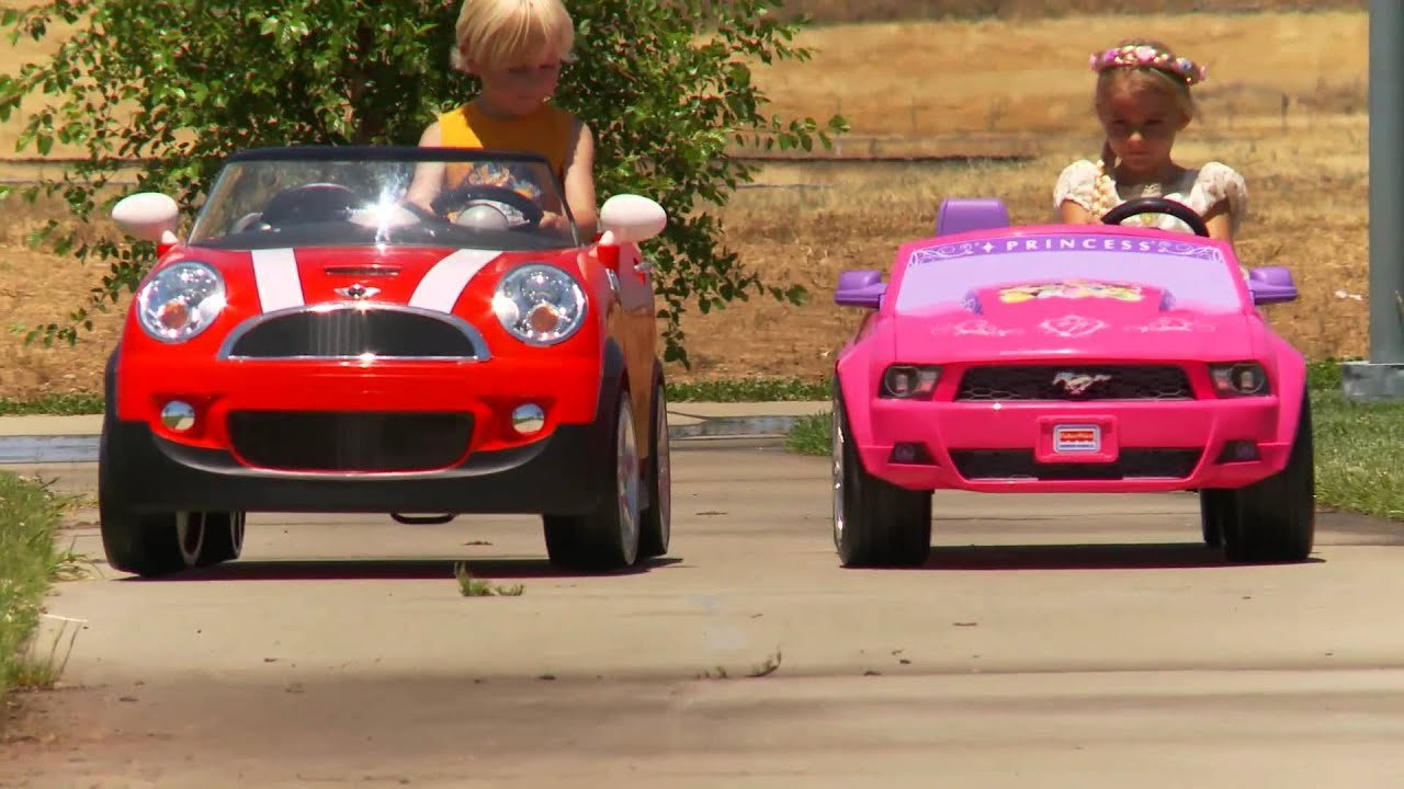 Latest Kids Ride On Car Race Mini Cooper Vs Disney Mustang Free Download