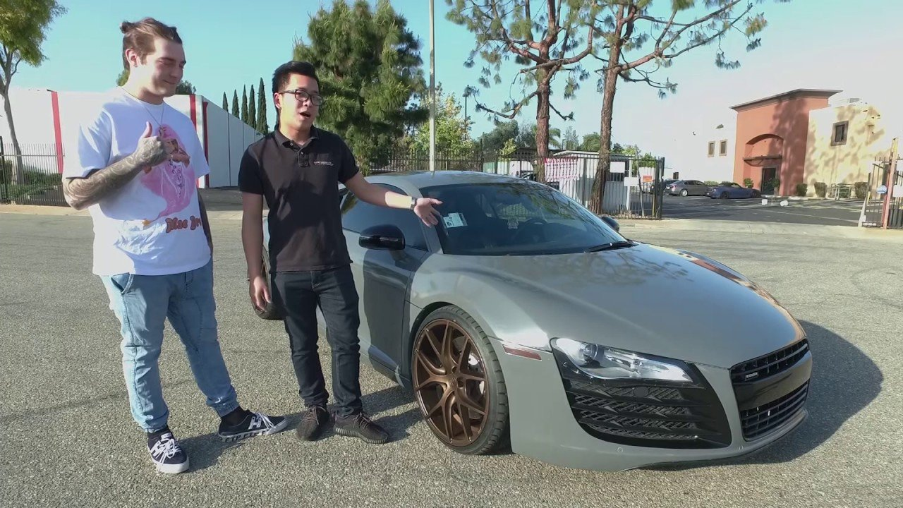 Latest Dj Getter Audi R8 Full Wrapped In Avery Gloss Dark Grey Free Download