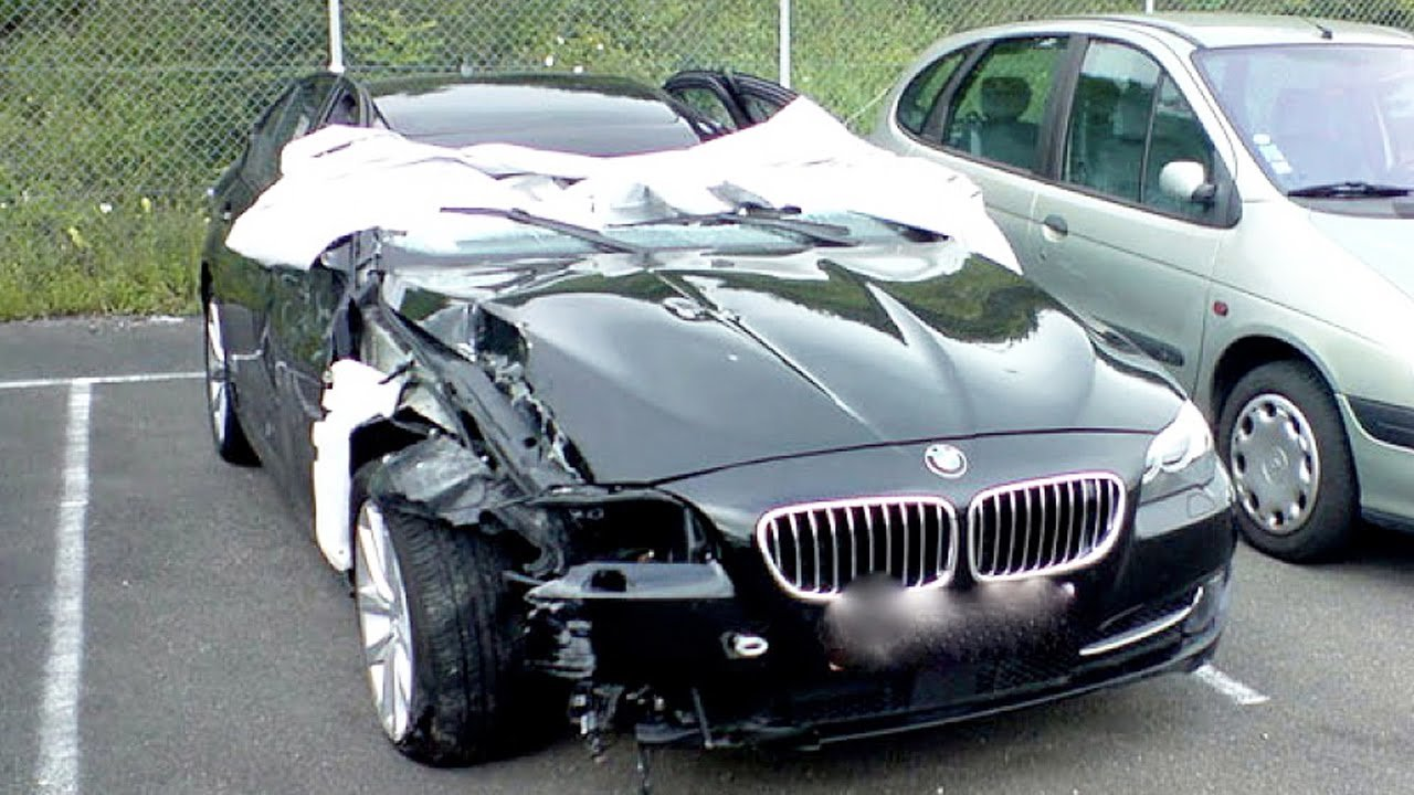 Latest Car Accident Of Bmw 5 Series Road Crash Free Download