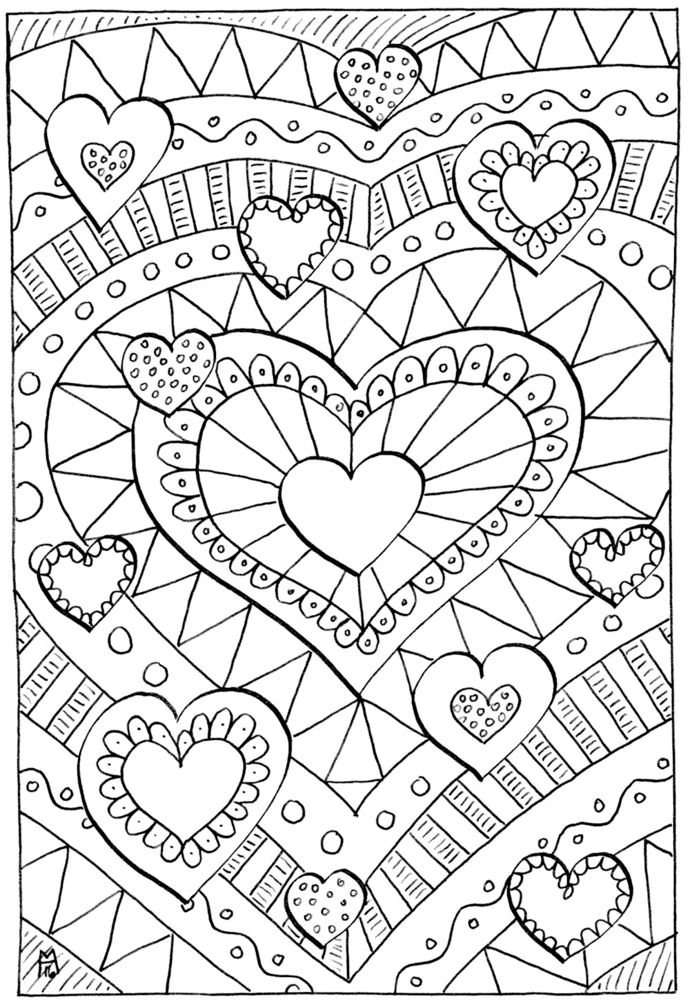 Latest Healing Hearts Coloring Page Favecrafts Com Free Download Original 1024 x 768