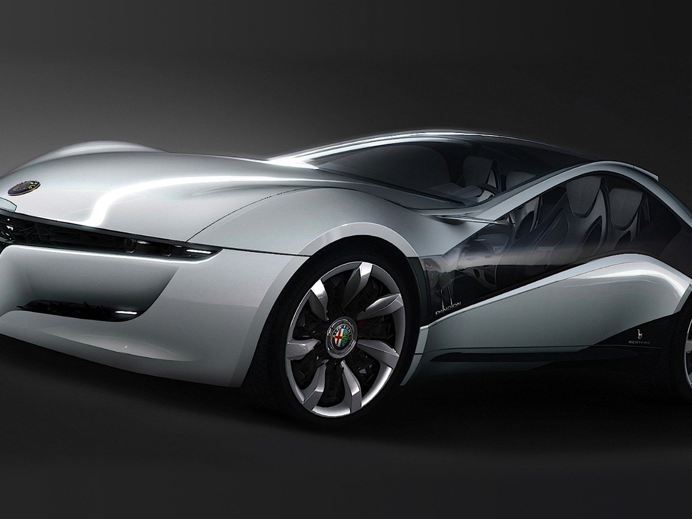 Latest Alfa Romeo Pandion Bertone Cars Concept Art Wallpaper Free Download