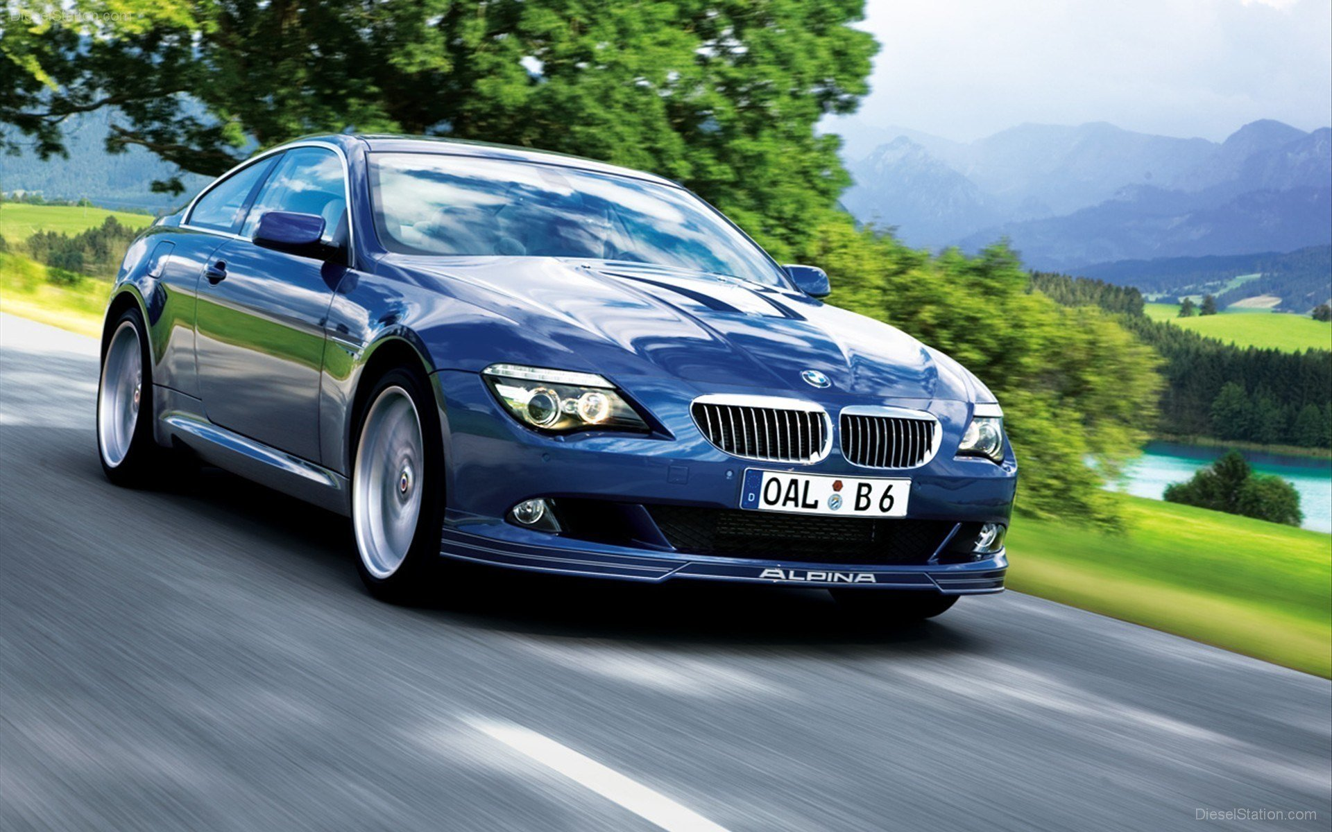 Latest Alpina Bmw 6 Series M6 Blue Cars Wallpaper Allwallpaper Free Download