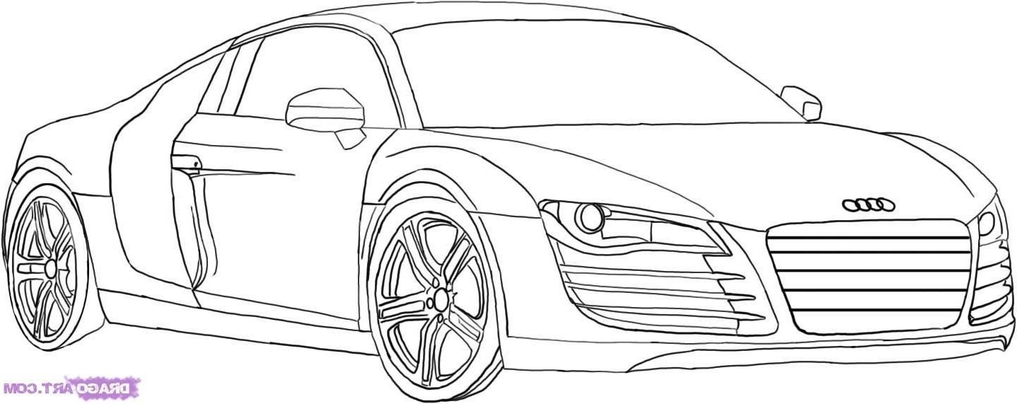Latest Drawings Of Cars Audi R8 Gt How To Draw An Audi Step Step Free Download
