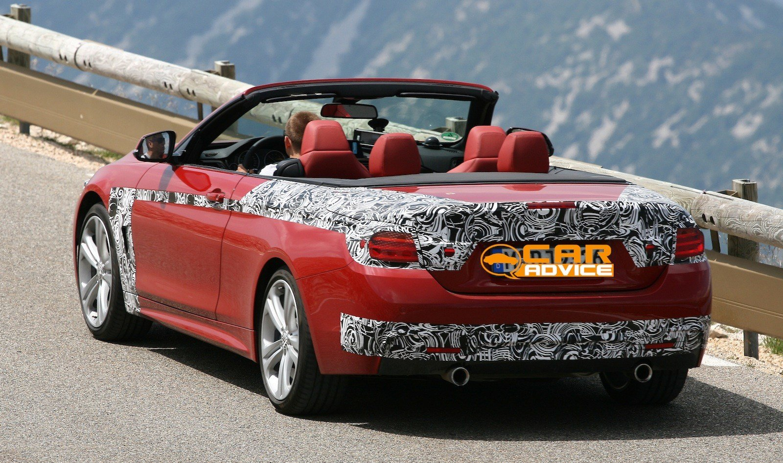 Latest Bmw 4 Series Convertible Spied With Its Roof Down Photos Free Download