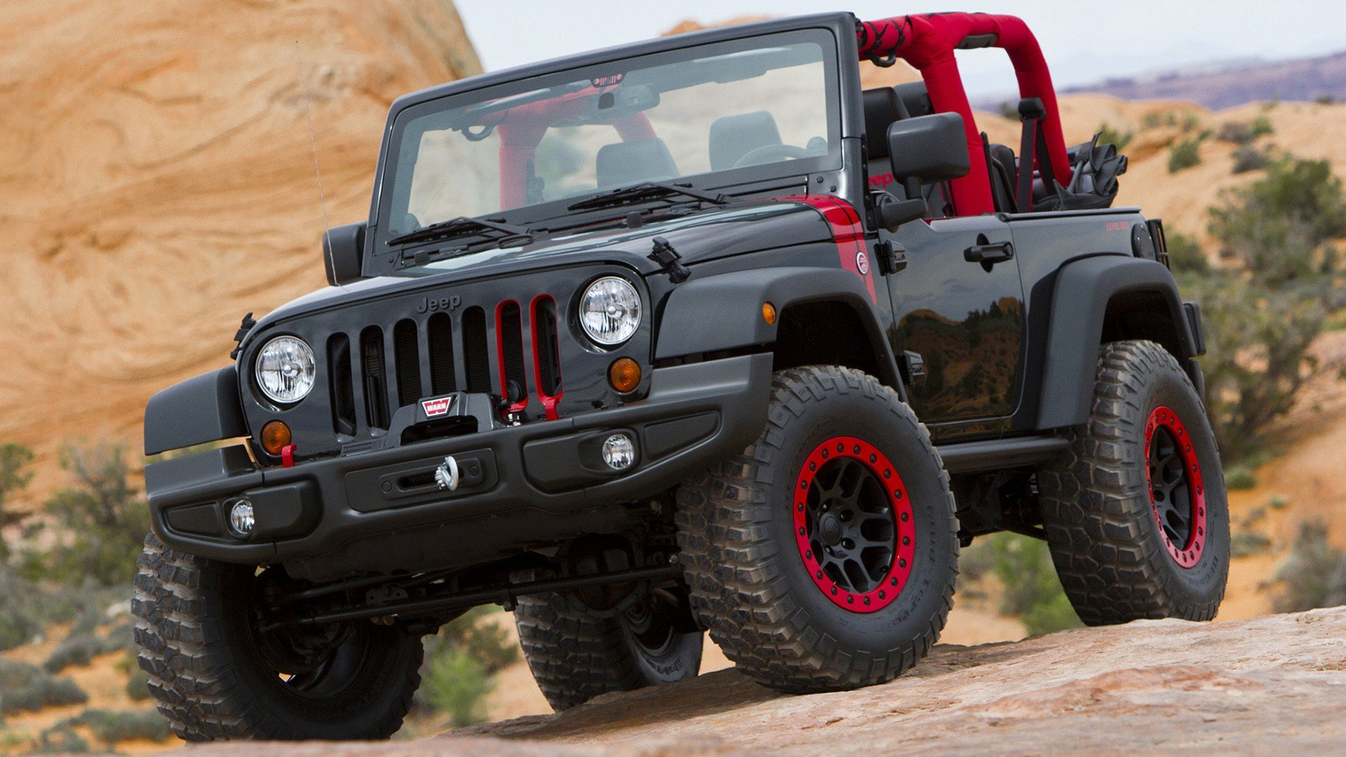 Latest 2014 Jeep Wrangler Level Red Concept Wallpapers And Hd Free Download