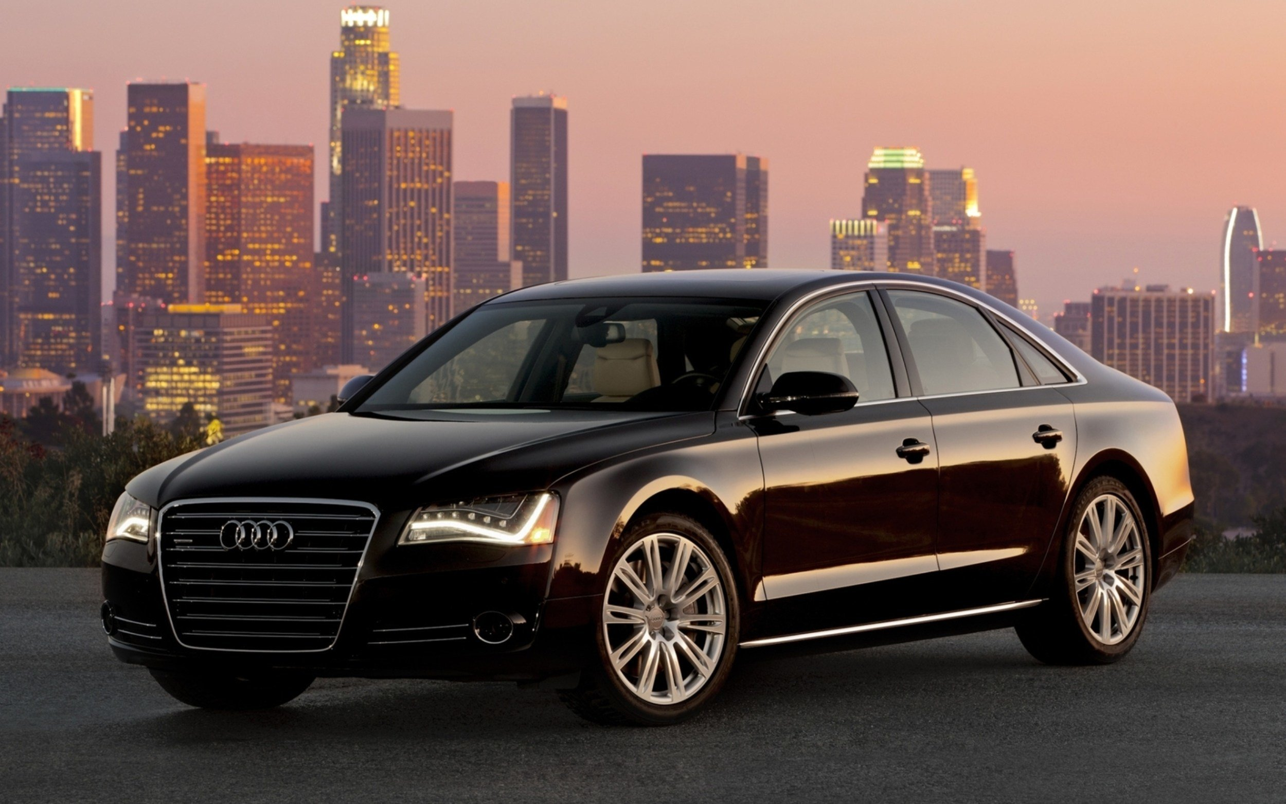 Latest Audi A8 Black Car Wallpapers 2500X1563 1755615 Free Download