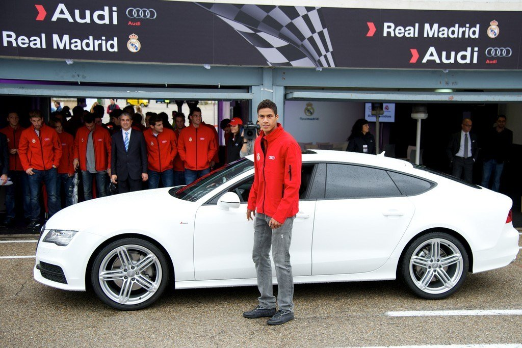 Latest Raphael Varane In Real Madrid Players Receive New Audi Free Download