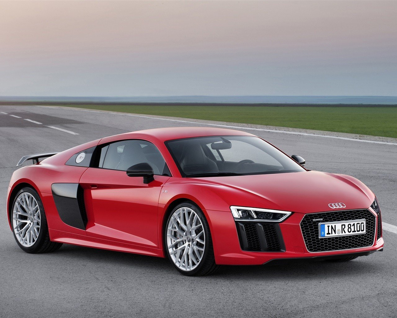 Latest 2015 Audi R8 Red Car Wallpaper 1280X1024 Resolution Free Download