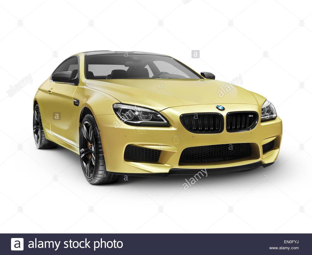 Latest Gold 2015 Bmw M6 Coupe Luxury Car Isolated On White Free Download
