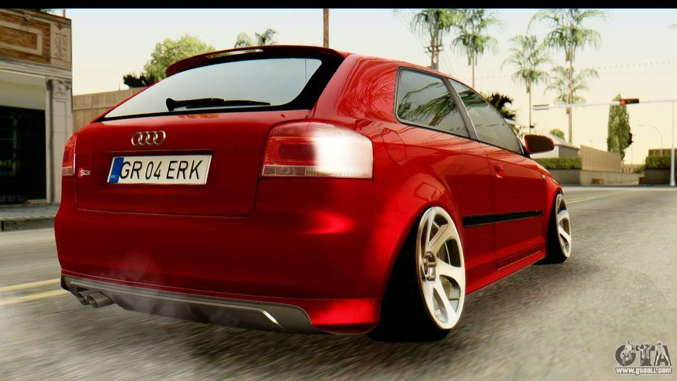 Latest Audi S3 2007 Camber Edit For Gta San Andreas Free Download