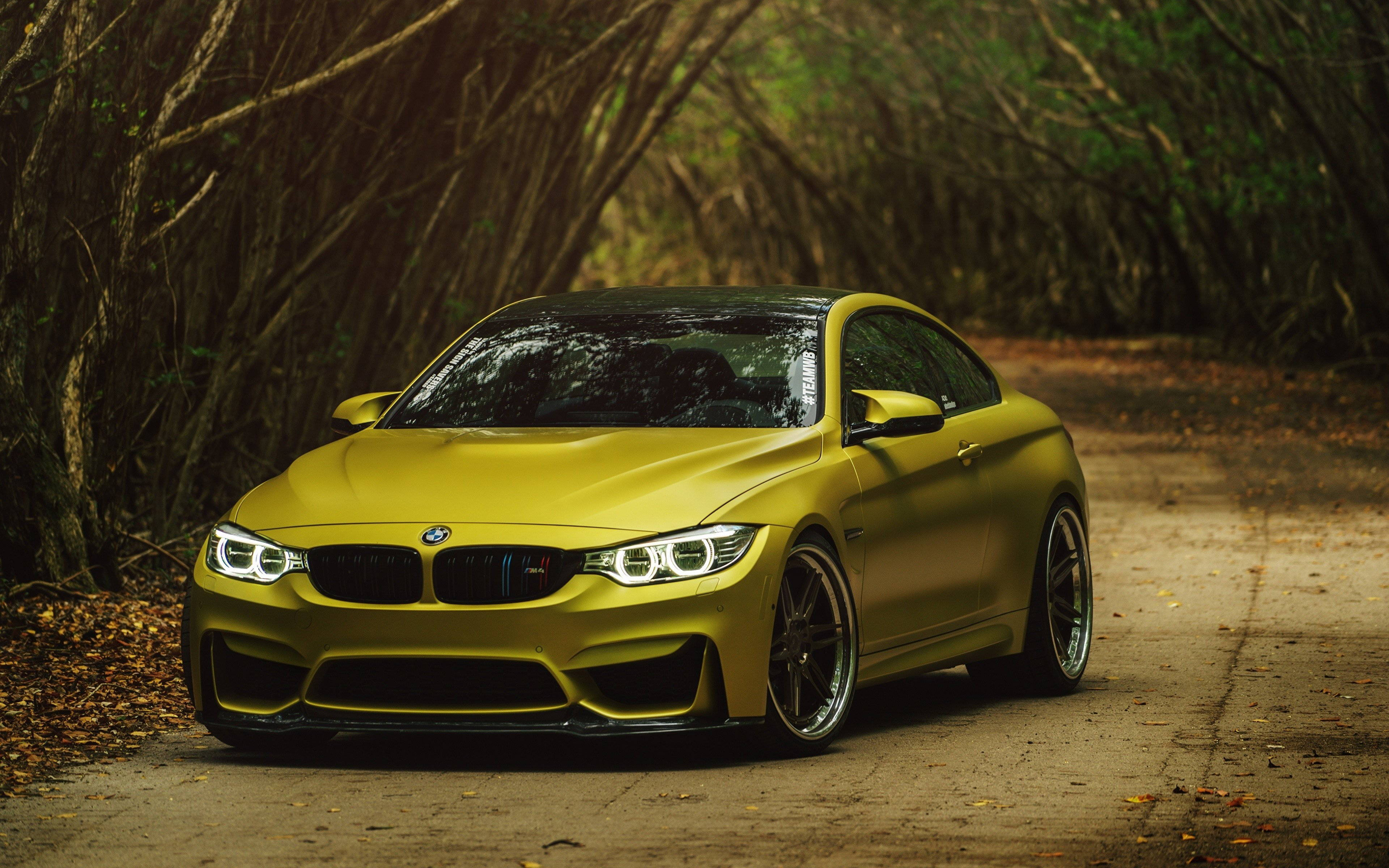 Latest Wallpapers Bmw Gold M4 Coupe Austin Cars Front 3840X2400 Free Download