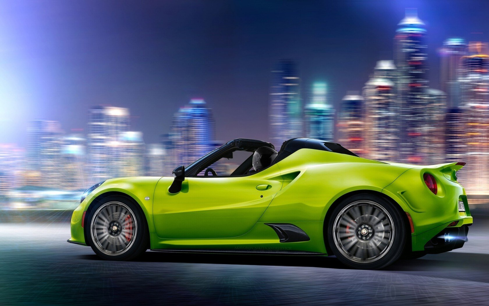 Latest Alfa Romeo 4C Lime Wallpaper Hd Car Wallpapers Id 5766 Free Download