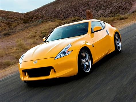 Latest Photo Nissan 370Z Yellow Car Free Download