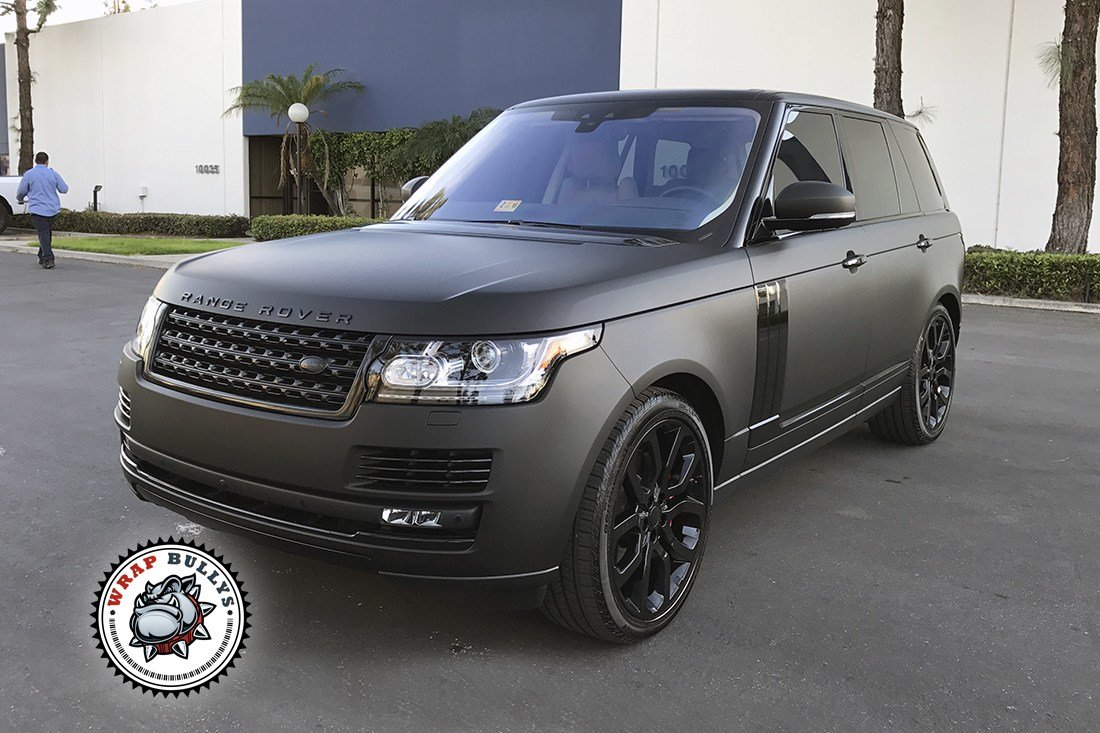 Latest Range Rover Wrapped In 3M Deep Matte Black Wrap Bullys Free Download