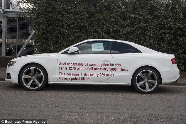 Latest Motorist Plasters His Audi A5 With Slogans And Parks It Free Download