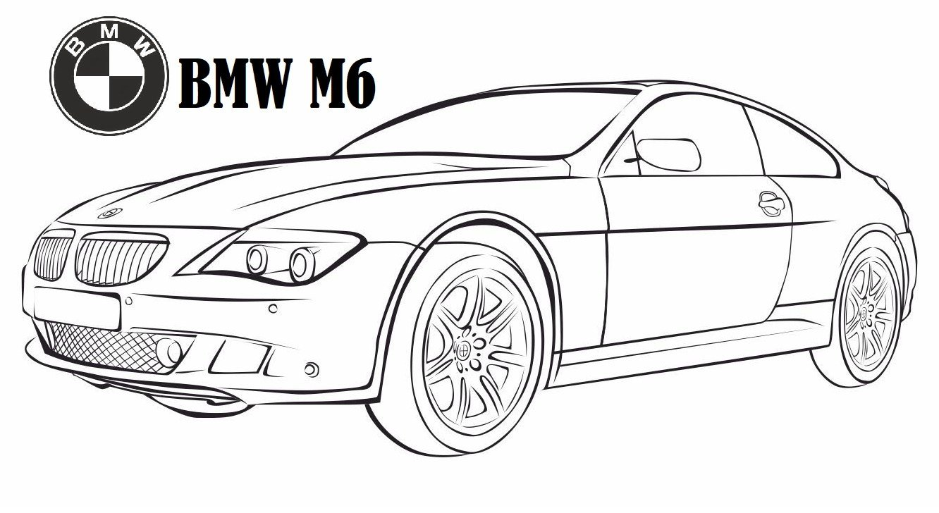 Latest M Bmw M6 Coloring Pages Coloring Pages Free Download