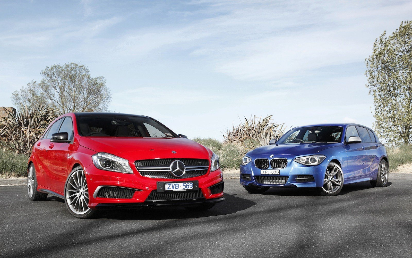 Latest Bmw M135I V Mercedes Benz A45 Amg Comparison Review Free Download