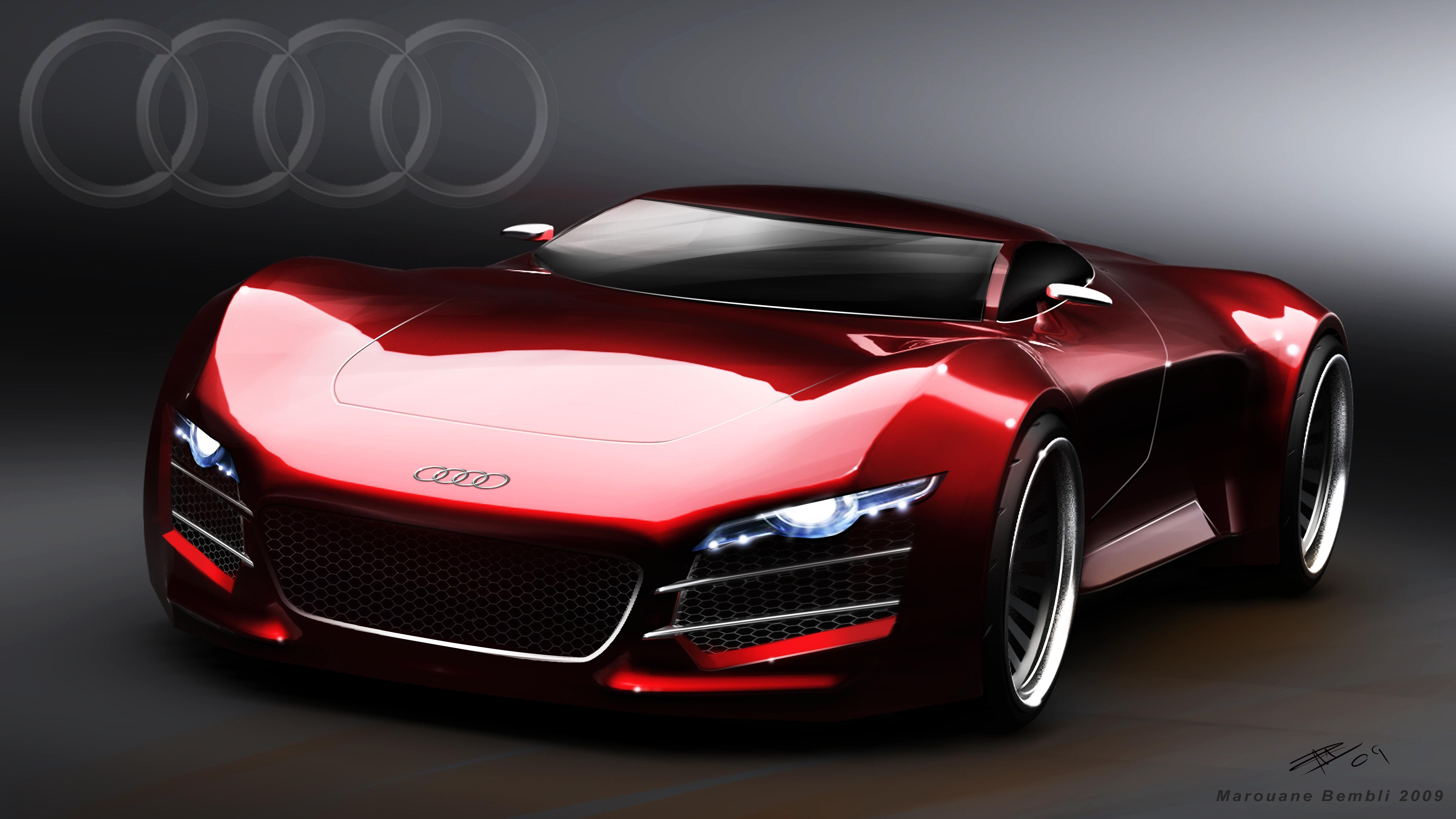Latest Red Audi Car Images Free Download