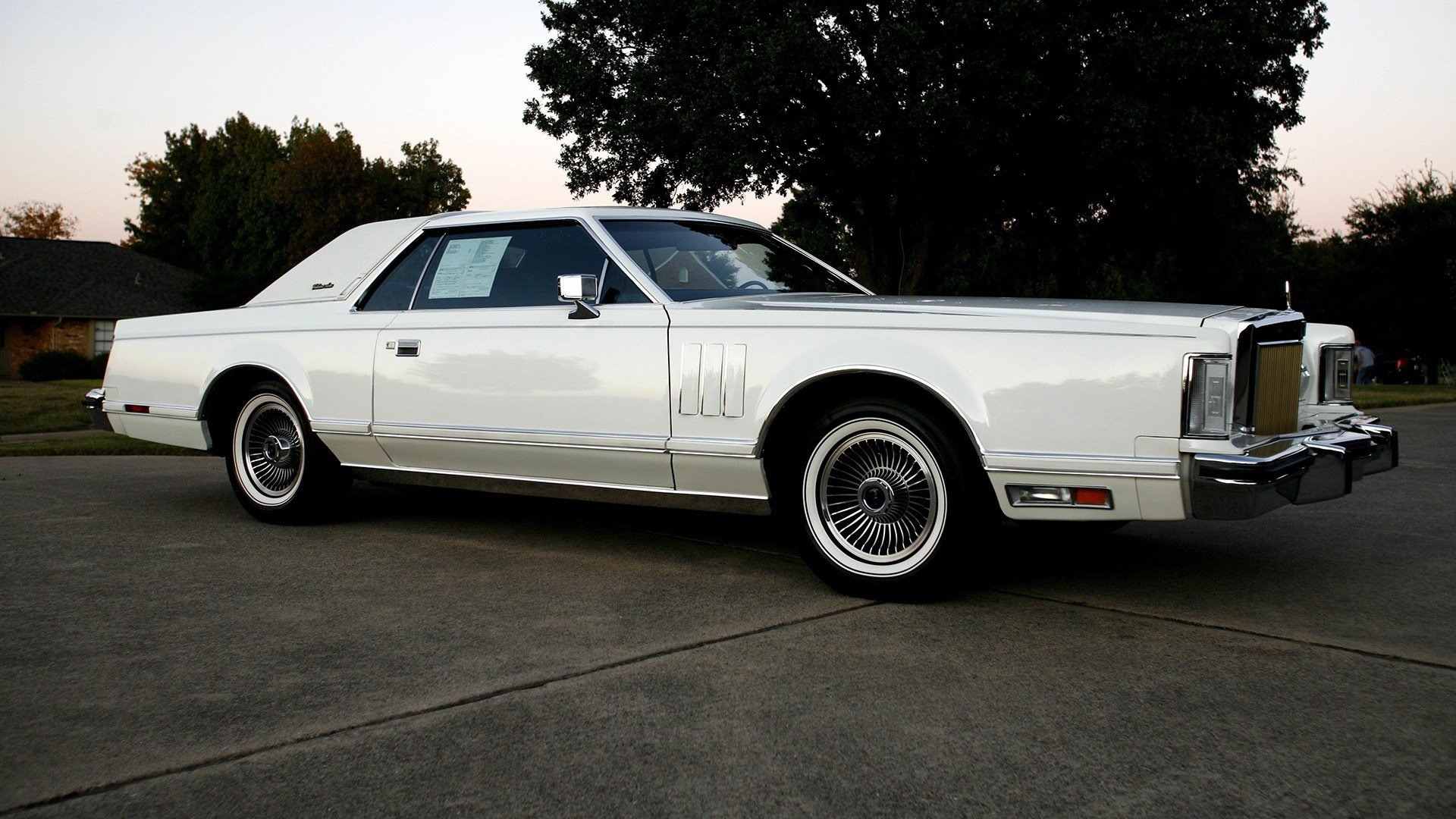 Latest White Lincoln Continental Car Wallpaper Hd 14200 Free Download