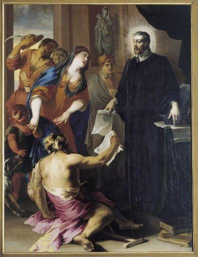 Saint Yves défendant les pauvres. XVIIe