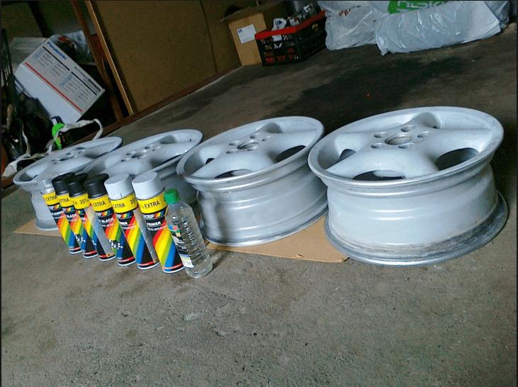 Перед покраской дисков