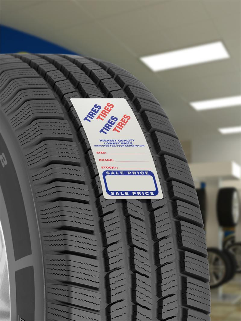 Used Tire Labels Adhesive Stickers Auto Ad Sales