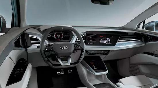 Audi q4 e tron all electric SUV interior