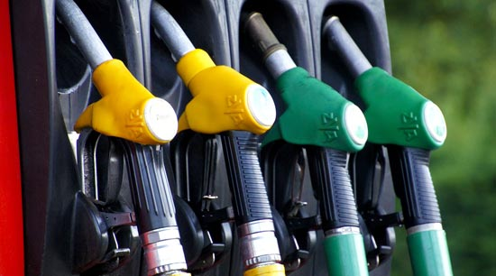 Car miles per gallon gas station pumps