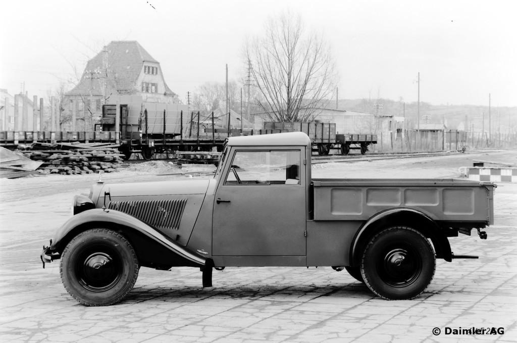 Mercedes Benz Typ 170 V, 38 PS, Pritschenwagen, Bauzeit: 1946 bis 1949.