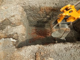 digging hole for brine equipment