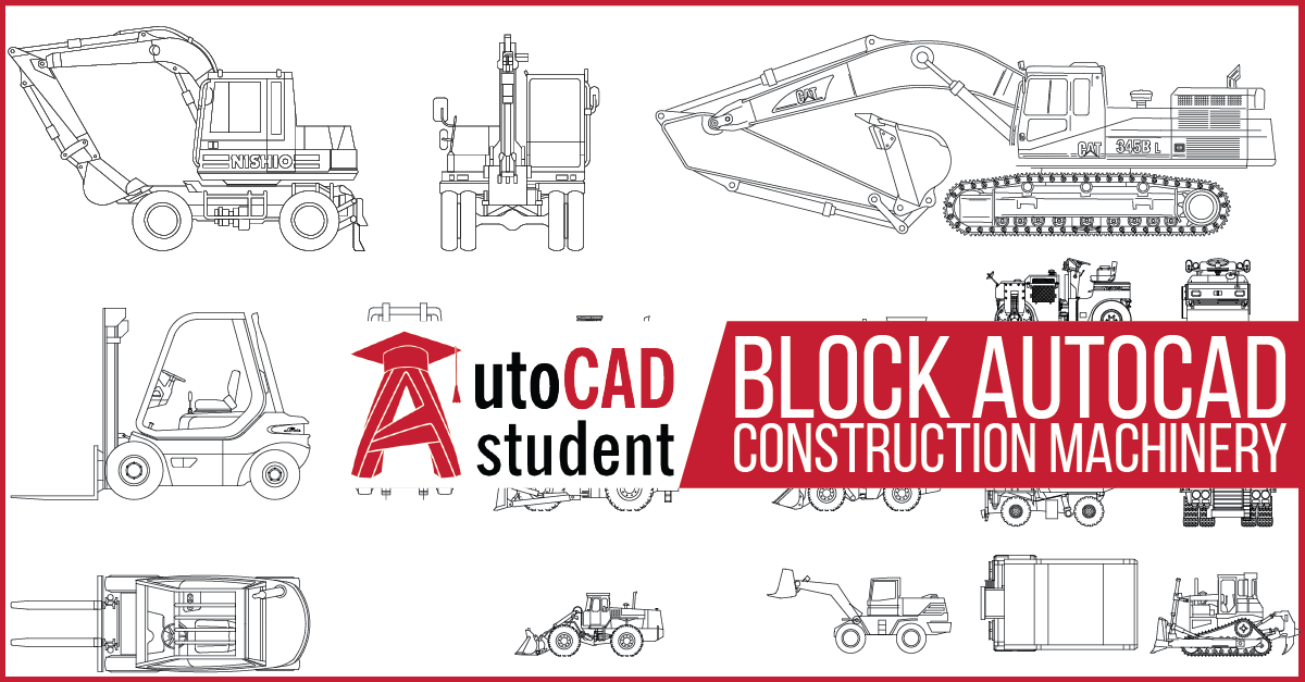 AutoCAD construction machinery
