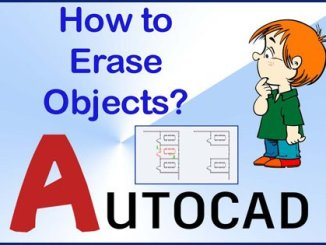Erase command in AutoCAD