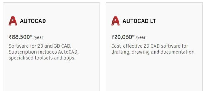 License price-AutoCAD