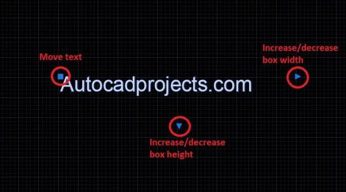 Blue dots Multiline text-AutCAD