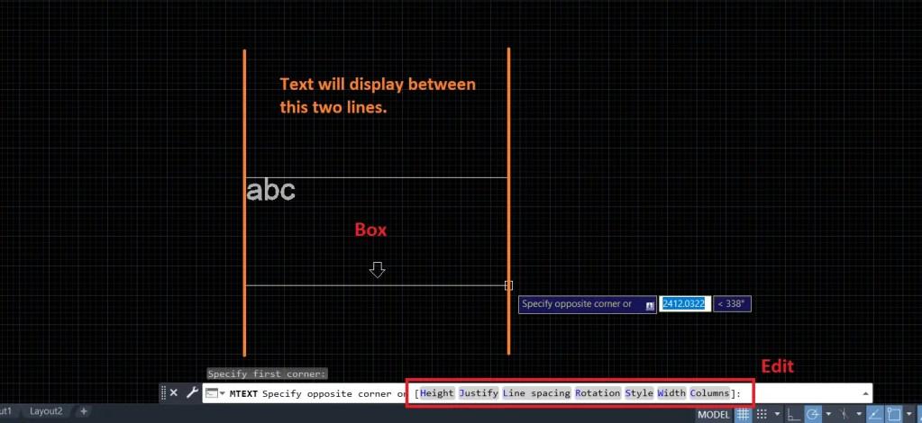 Multiline text (MTEXT)